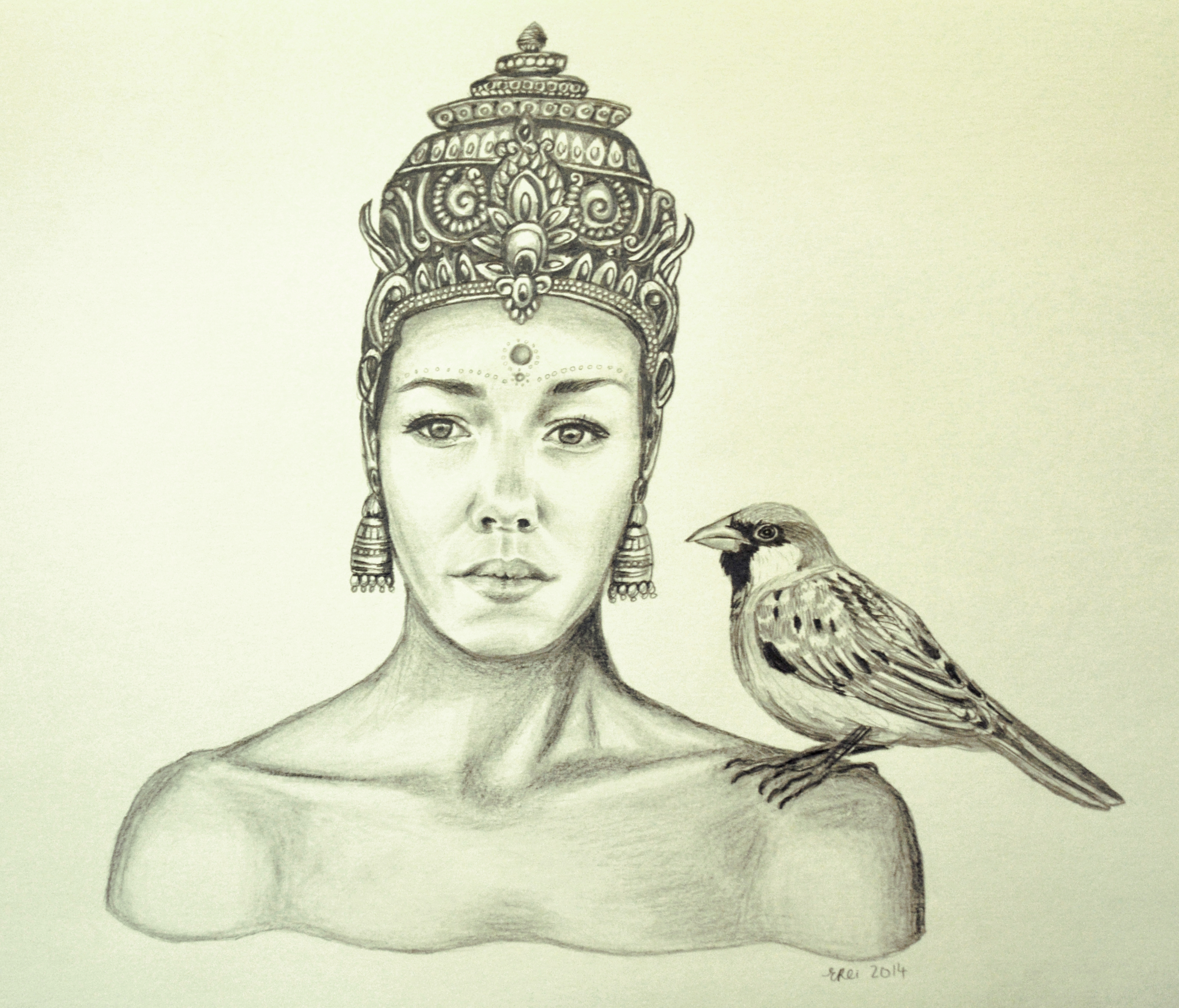 Graphite drawing by Elysha Rei (Gould)